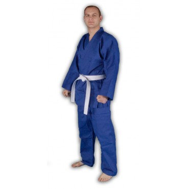 KS02 - Red Dragon Blue Poly-Cotton Karate Gi