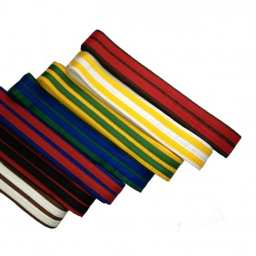 Coloured Belts with Two Stripes (1)