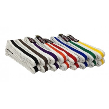 Red Dragon - White Belts With A Coloured Stripe