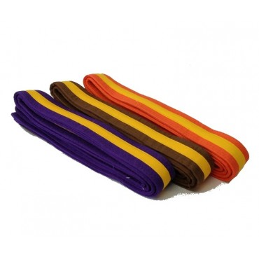 Coloured Belts with a Gold Stripe (0)