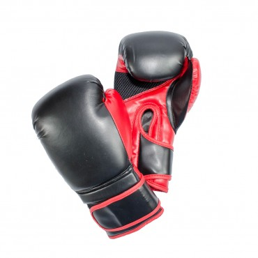 Onyx O818 Black and Red Boxing Gloves - FREE DELIVERY