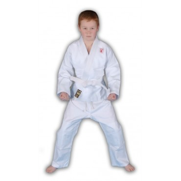Red Dragon Kids White Cotton Judo Gi