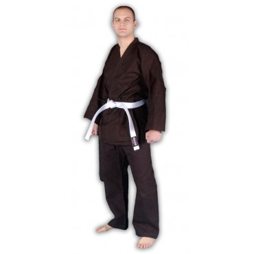 KS02 - Red Dragon Adult Black Poly-Cotton Karate Gi