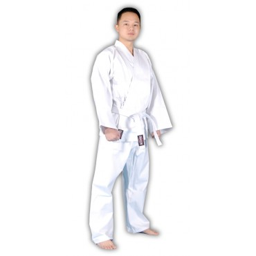 KS02 - Red Dragon White Poly-Cotton Karate Gi