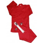 Red Dragon Red Poly/Cotton Karate Gi