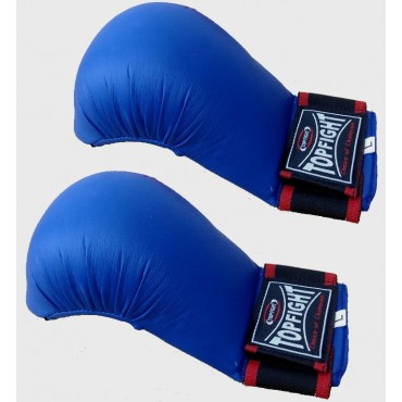 Top Fight - PU Competion Karate Mitt with Thumb - Blue